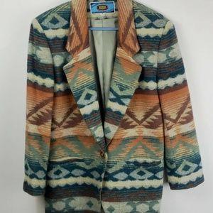 VTG Maurizio Ramani Wool Aztec Southwest Blazer